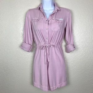 7 For All Mankind Pink Shirtdress Juniors Large
